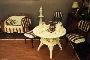 Furniture made of chocolate