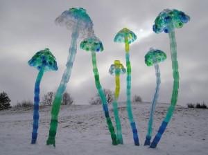 Plastic bottle art by Veronika Richterova