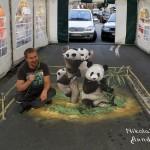 3D street painting by Russian artist Nikolaj Arndt