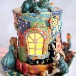 Ceramic art by self-taught artist Vladimir Yudin
