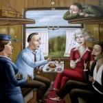Good company (scene in the train