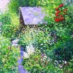 Overgrown garden. Painting by Evgeny Gavli