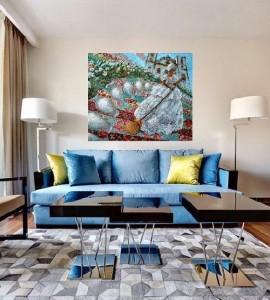 Interior. Patchwork art by Brazilian artist Sandra Regina de Paula Freitas
