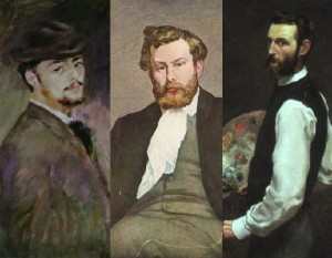 Pierre-Auguste Renoir, Alfred Sisley, Frederic Bazille
