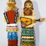 Master – Anna, Sergiev Posad, folk wooden toy, carved from linden, painted with paints and varnished