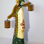 Sergiev Posad folk wooden toy, carved from linden, Master – Anna