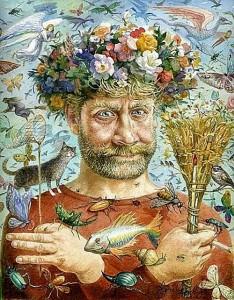 Self-portrait. Russian artist Vladimir Rumyantsev