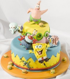Sponge Bob and cheerful company. Artful Bakery cakes by St. Petersburg based food artist Vladimir Sizov