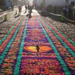 Large size Street Carpet made for Holy Week Semana Santa in Antigua Guatemala