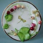 Dragonfly. Porcelain plate