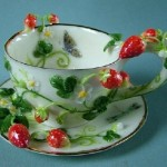 Strawberry. Porcelain by Svetlana Oreshkina