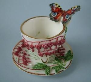 Butterfly. Porcelain miniature