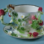 Raspberry. Porcelain miniature by Svetlana Oreshkina