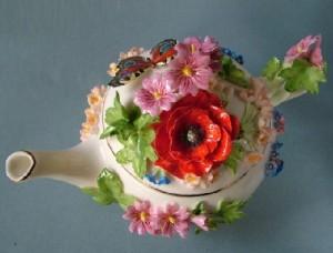 Poppies. Porcelain miniature. Handmade by Russian porcelain artist Svetlana Oreshkina