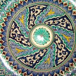 Patterns of Uzbek pottery art