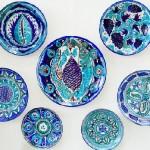 Blue plates.