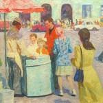 Ice cream in painting