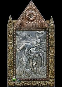Artist engraver Viktor Morozov