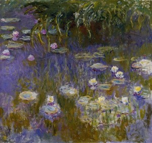 Water Lilies, oil painting by French Impressionist Claude Monet