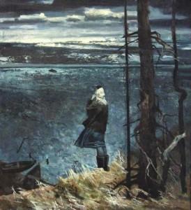 Wind. Painting by Russian artist Viktoria Kharchenko