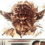 Yoda Coffee Painting