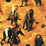 Bruegel almost never portrayed smiling faces. Details
