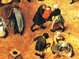 1560 painting Children's-games, detail