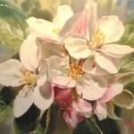 Elena Tener painting on silk