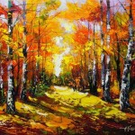 Autumn paintings by Alexander Volkov