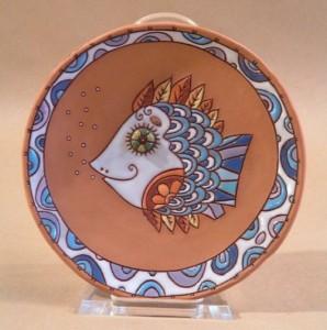 Fish. Ceramic plate
