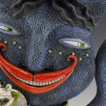 Closeup Cheshire Cat Teapot