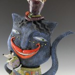Closeup Cheshire Cat Teapot