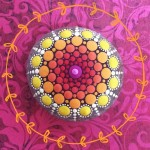 Bright mandala painting