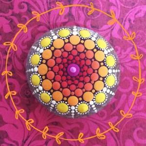 Bright mandala painting