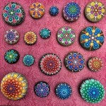 Stones painted by Australian artist Elspeth McLean