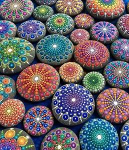Hand painted mandala stones