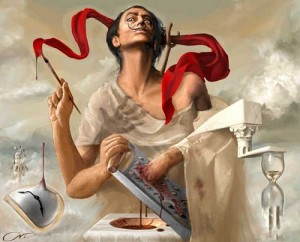 Greek self-taught Illustrator Christina-Antoinette Neofotistou (born 1980). Currently a medical student at the University of Crete
