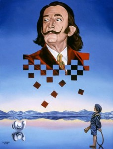 American self-taught artist Michael Bridges (born in Columbus Ohio). Once he discovered Salvador Dali, and realized his passion for surrealism