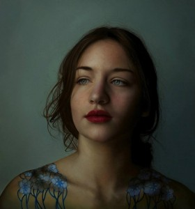 Beautiful girl, portrait. Hyper realistic oil painting by Italian artist Marco Grassi