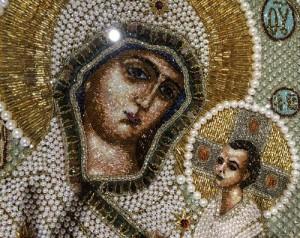 Virgin Hodegetria, detail of icon