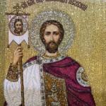 Jesus Christ. Icon Embroidery art by Natalia Gorkovenko
