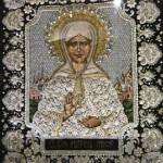 Matrona of Moscow. Stunning Icon Embroidery by Natalia Gorkovenko