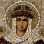 Saint Olga Blessed Icon Embroidered with precious stones