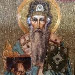 Elder Spyridon of Trimyphunteia icon. Moscow workshop of Icon Embroidery