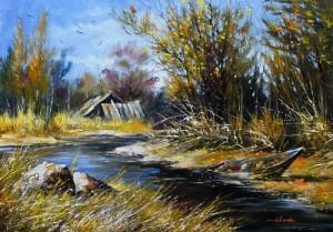 Hut at the river