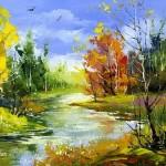 Bright autumn. Artist Alexander Khodyukov