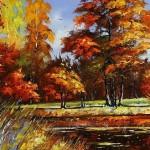 August. Landscape painting. Artist Alexander Khodyukov