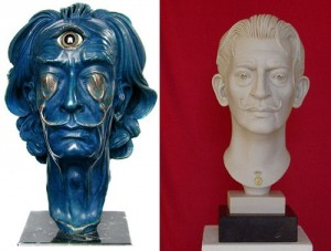 Bust of Salvador Dali by Karolin Donst and Arno Breker