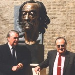 The bronze bust of Salvador Dali is an attraction in the Museum Europaische Kunst
