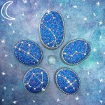 These constellation stones featuring Libra, Seven sister, Scorpio, Cygnus and Cassiopeia